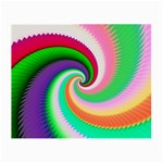 Colorful Spiral Dragon Scales   Small Glasses Cloth (2-Side) Back
