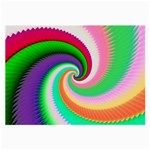 Colorful Spiral Dragon Scales   Large Glasses Cloth (2-Side) Front