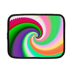 Colorful Spiral Dragon Scales   Netbook Case (Small)