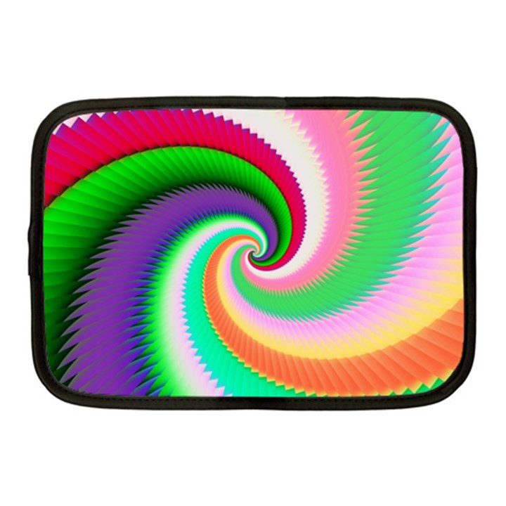 Colorful Spiral Dragon Scales   Netbook Case (Medium)