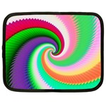 Colorful Spiral Dragon Scales   Netbook Case (Large) Front
