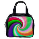 Colorful Spiral Dragon Scales   Classic Handbags (One Side) Front