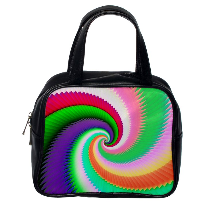Colorful Spiral Dragon Scales   Classic Handbags (One Side)