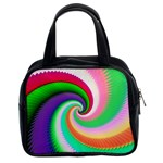 Colorful Spiral Dragon Scales   Classic Handbags (2 Sides) Front