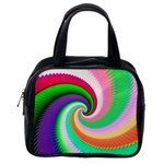 Colorful Spiral Dragon Scales   Classic Handbags (2 Sides) Back