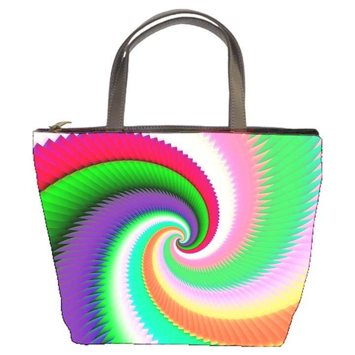 Colorful Spiral Dragon Scales   Bucket Bags