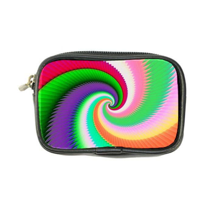 Colorful Spiral Dragon Scales   Coin Purse
