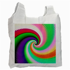 Colorful Spiral Dragon Scales   Recycle Bag (One Side)