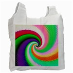 Colorful Spiral Dragon Scales   Recycle Bag (One Side) Front