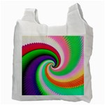 Colorful Spiral Dragon Scales   Recycle Bag (Two Side)  Back