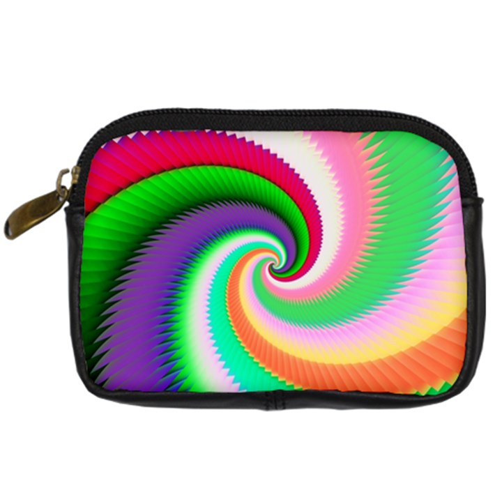 Colorful Spiral Dragon Scales   Digital Camera Cases