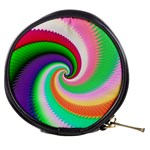 Colorful Spiral Dragon Scales   Mini Makeup Bags Front