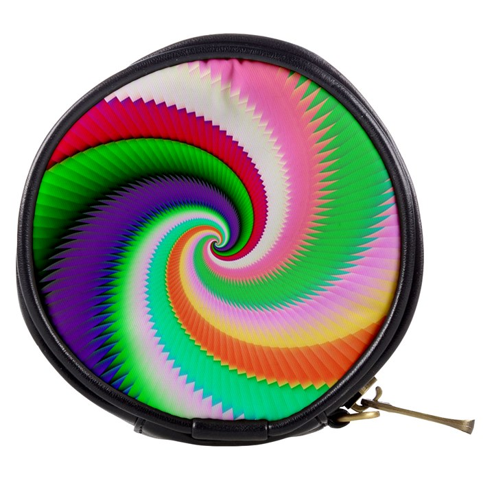 Colorful Spiral Dragon Scales   Mini Makeup Bags