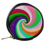 Colorful Spiral Dragon Scales   Mini Makeup Bags Back