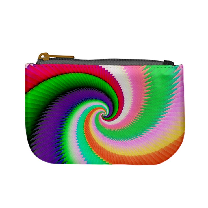 Colorful Spiral Dragon Scales   Mini Coin Purses