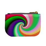 Colorful Spiral Dragon Scales   Mini Coin Purses Back