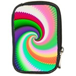 Colorful Spiral Dragon Scales   Compact Camera Cases Front
