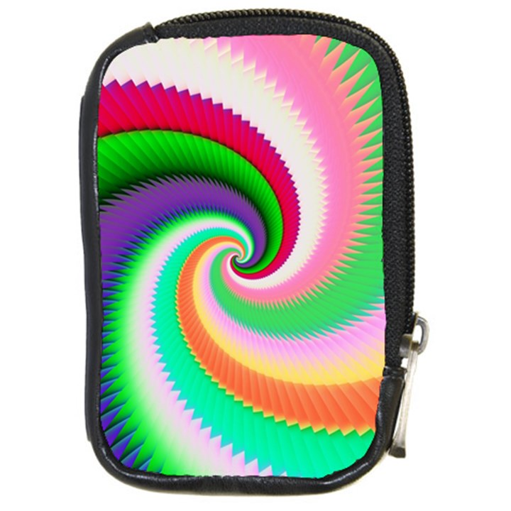 Colorful Spiral Dragon Scales   Compact Camera Cases