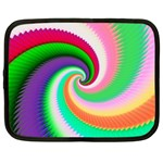 Colorful Spiral Dragon Scales   Netbook Case (XL)  Front