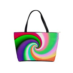Colorful Spiral Dragon Scales   Shoulder Handbags