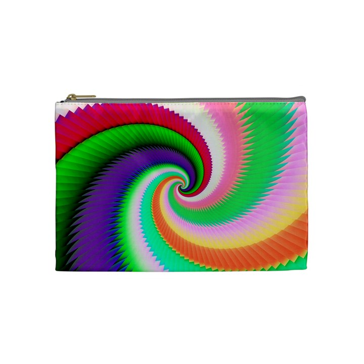 Colorful Spiral Dragon Scales   Cosmetic Bag (Medium)