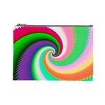 Colorful Spiral Dragon Scales   Cosmetic Bag (Large)  Front