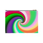 Colorful Spiral Dragon Scales   Cosmetic Bag (Large)  Back