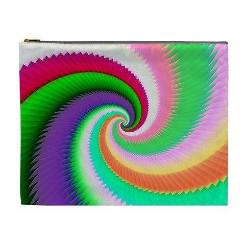 Colorful Spiral Dragon Scales   Cosmetic Bag (XL)