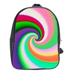 Colorful Spiral Dragon Scales   School Bags(Large)  Front
