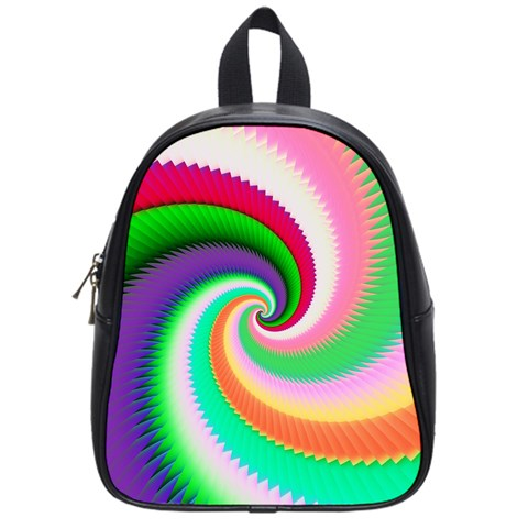 Colorful Spiral Dragon Scales   School Bags (Small)