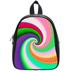 Colorful Spiral Dragon Scales   School Bags (Small)  Front
