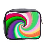 Colorful Spiral Dragon Scales   Mini Toiletries Bag 2-Side Back