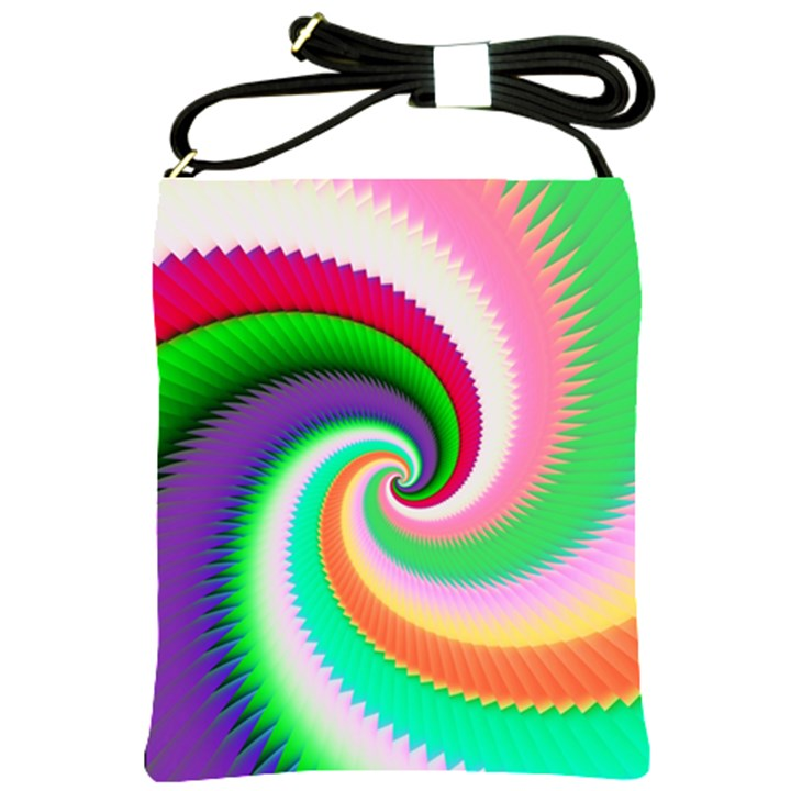 Colorful Spiral Dragon Scales   Shoulder Sling Bags