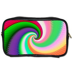 Colorful Spiral Dragon Scales   Toiletries Bags 2-Side