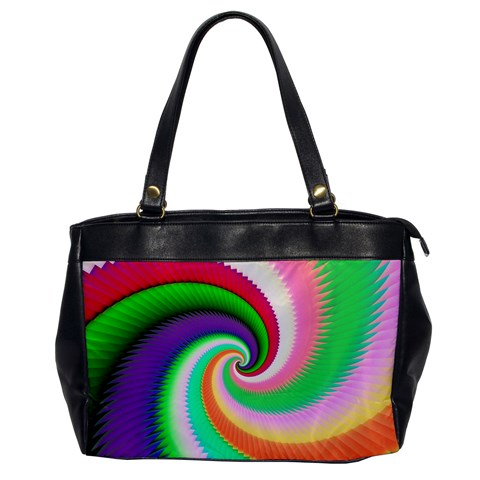 Colorful Spiral Dragon Scales   Office Handbags