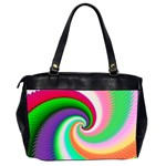 Colorful Spiral Dragon Scales   Office Handbags (2 Sides)  Back