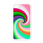 Colorful Spiral Dragon Scales   Apple iPhone 4 Case (White) Front