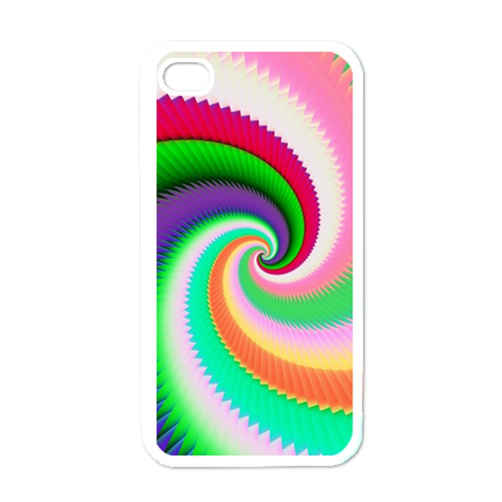 Colorful Spiral Dragon Scales   Apple iPhone 4 Case (White)