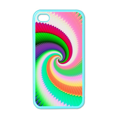 Colorful Spiral Dragon Scales   Apple iPhone 4 Case (Color)