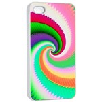 Colorful Spiral Dragon Scales   Apple iPhone 4/4s Seamless Case (White) Front