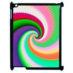 Colorful Spiral Dragon Scales   Apple iPad 2 Case (Black) Front