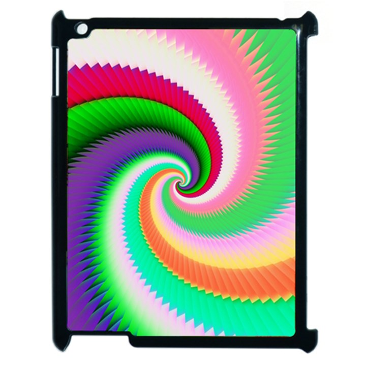 Colorful Spiral Dragon Scales   Apple iPad 2 Case (Black)