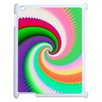 Colorful Spiral Dragon Scales   Apple iPad 2 Case (White) Front