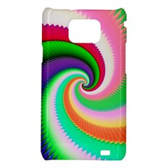 Colorful Spiral Dragon Scales   Samsung Galaxy S2 i9100 Hardshell Case