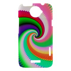 Colorful Spiral Dragon Scales   HTC One X Hardshell Case