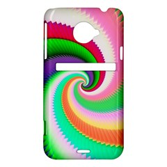 Colorful Spiral Dragon Scales   HTC Evo 4G LTE Hardshell Case