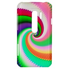 Colorful Spiral Dragon Scales   HTC Evo 3D Hardshell Case