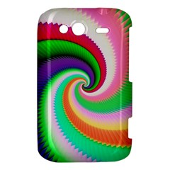 Colorful Spiral Dragon Scales   HTC Wildfire S A510e Hardshell Case