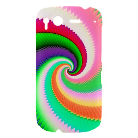 Colorful Spiral Dragon Scales   HTC Desire S Hardshell Case