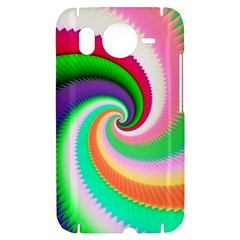 Colorful Spiral Dragon Scales   HTC Desire HD Hardshell Case
